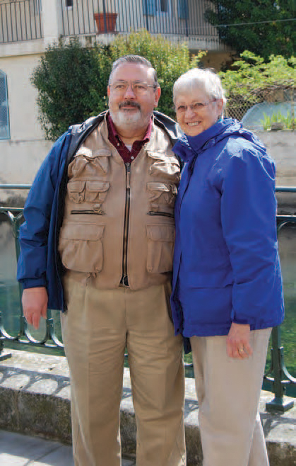 Guardian Society Members Robert and Margaret Phillips in Provence, France